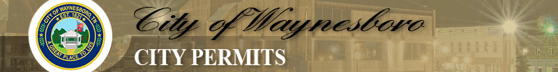 City of Waynesboro City Permits