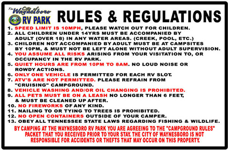 RV park rules opt